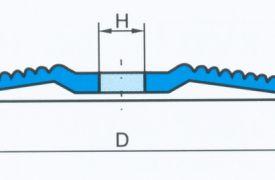 Polufleksibilna brusna ploča Swaty - Rondex
